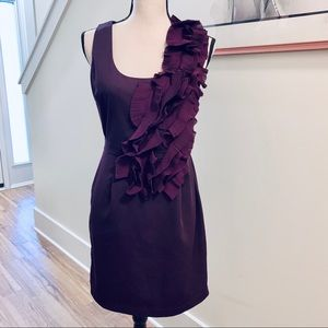 Esley Purple Orchid Ruffle Sheath Dress Size M